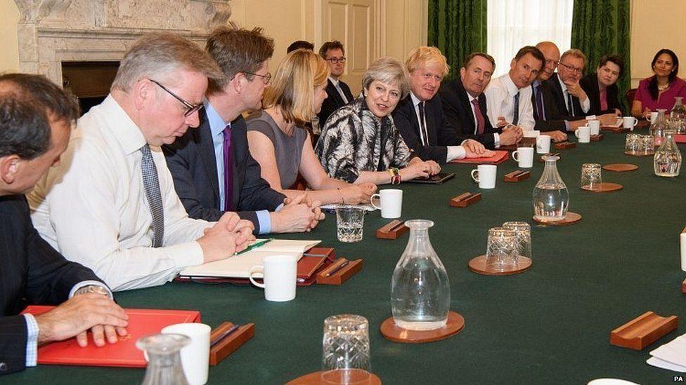 Theresa May chairs cabinet meeting