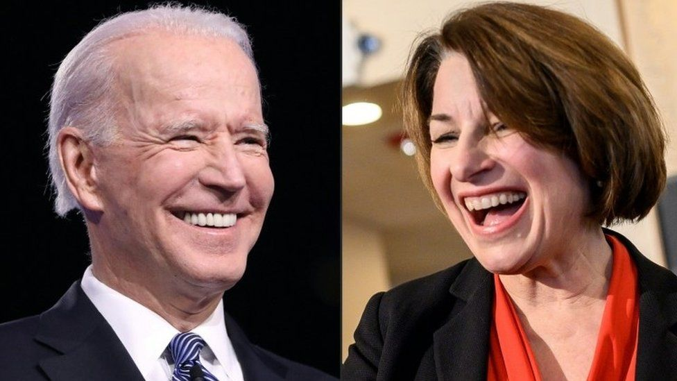 Joe Biden and Amy Klobuchar