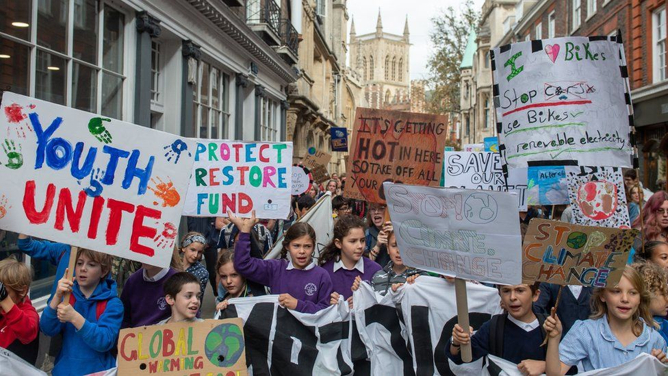 Climate strike: Thousands protest across UK