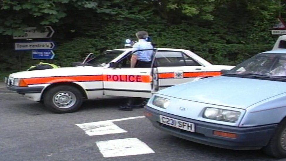 Police in Hungerford in 2987