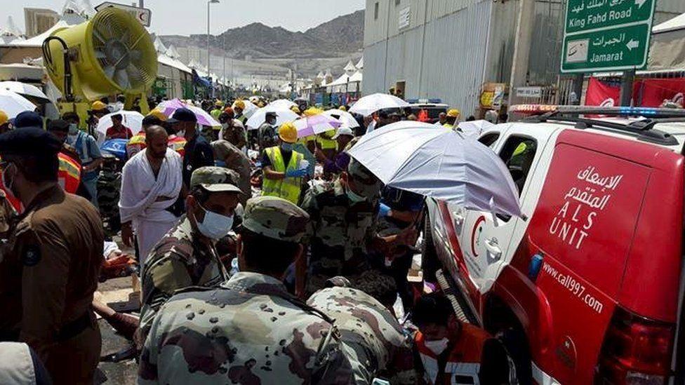 Scene of stampede in Mina on 24 September 2015