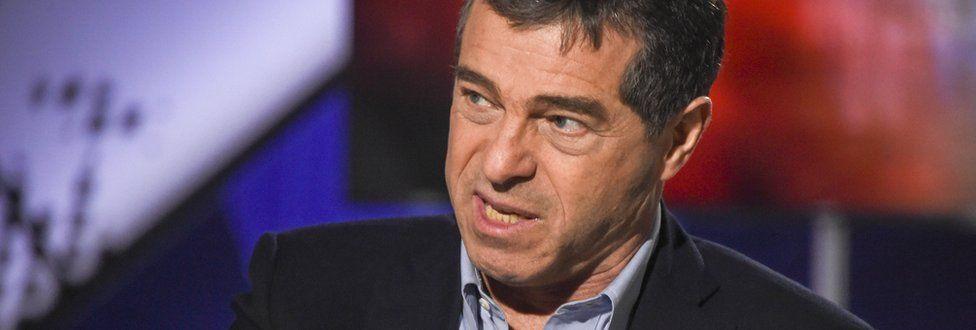 Uruguayan economist Ernesto Talvi speaks during a TV interview