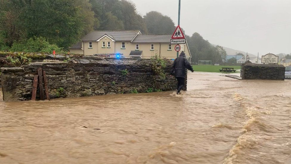 Flooding in Laxey