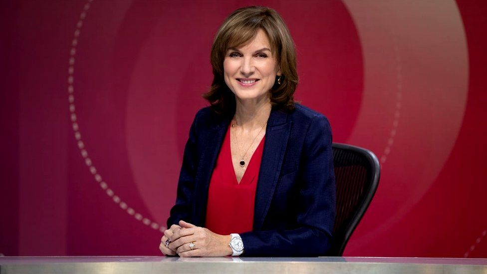 Fiona Bruce presenting Question Time