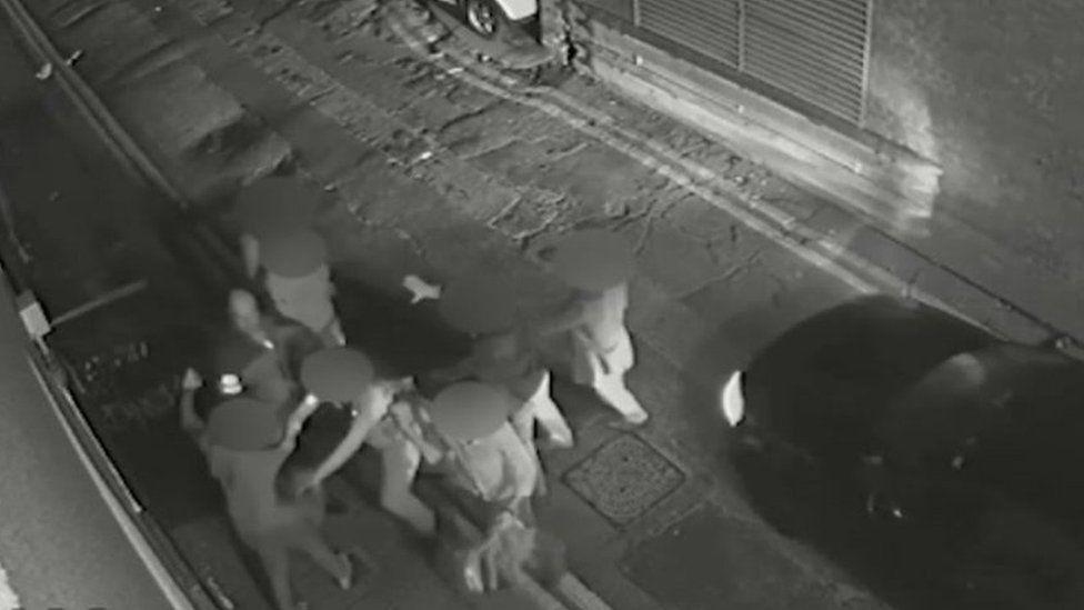 CCTV footage of alleyway behind Coyote Ugly