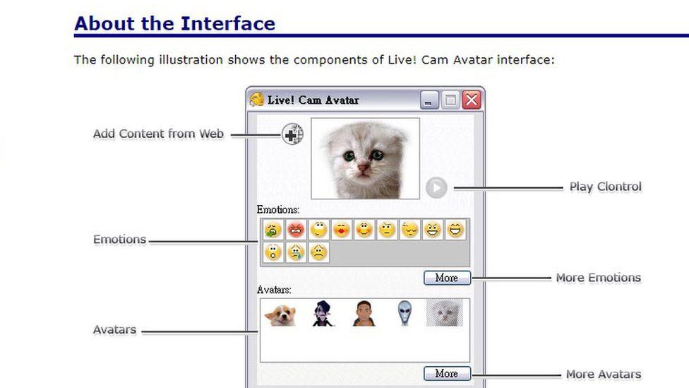 Screen grab of Live Cam Avatar