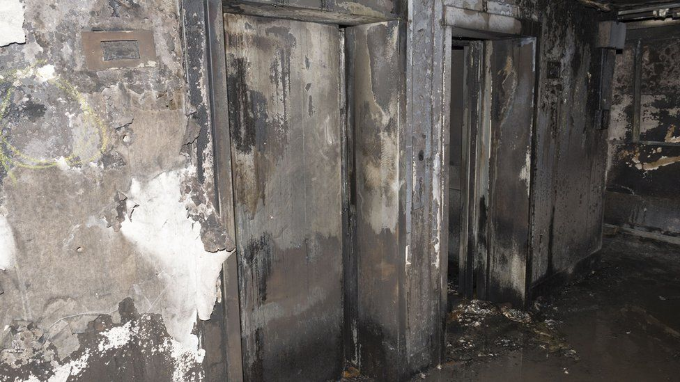 Lifts inside Grenfell Tower