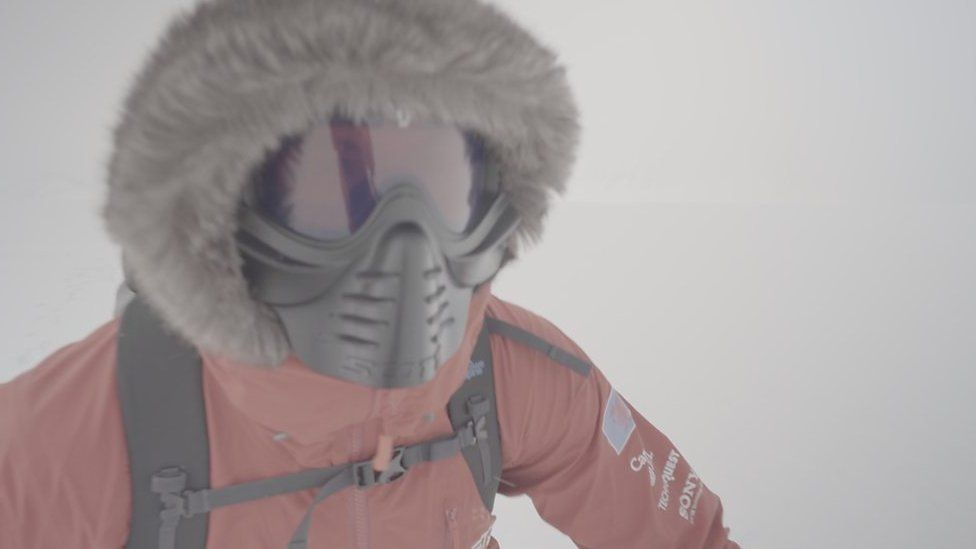 Richard Parks during his world record attempt to ski unsupported to the South Pole