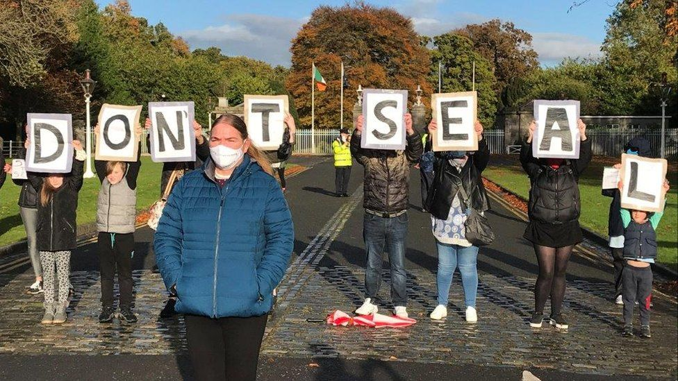 Campaigners held a protest last October over future access to the commission's records
