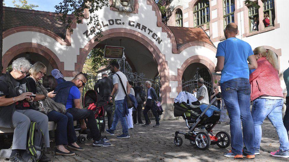 Entrance to Leipzig zoo