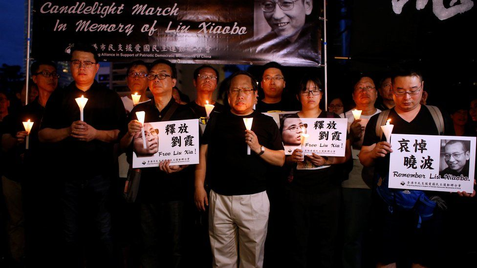 Activists' vigil in Hong Kong