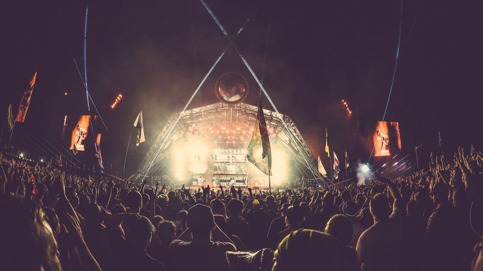 Stormzy on the Pyramid stage