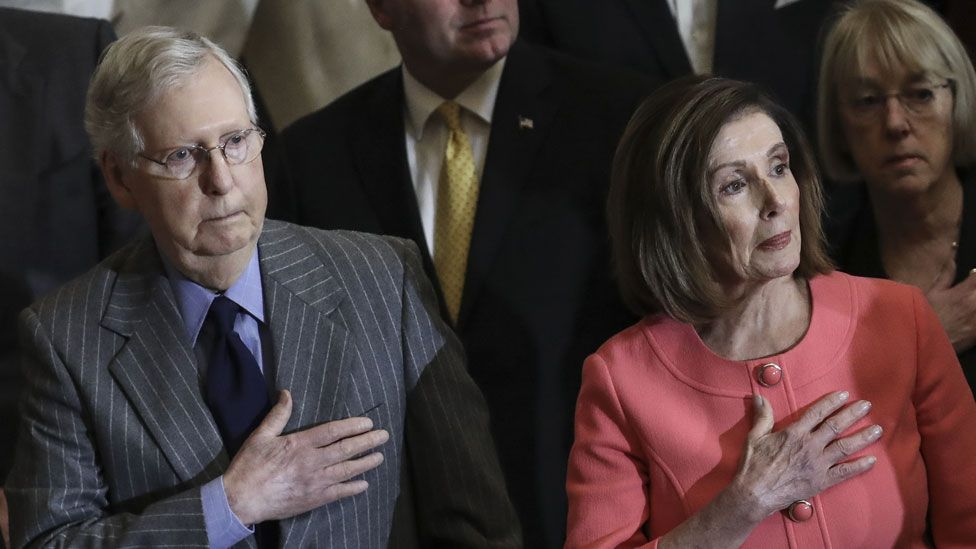 Mitch McConnell and Nancy Pelosi