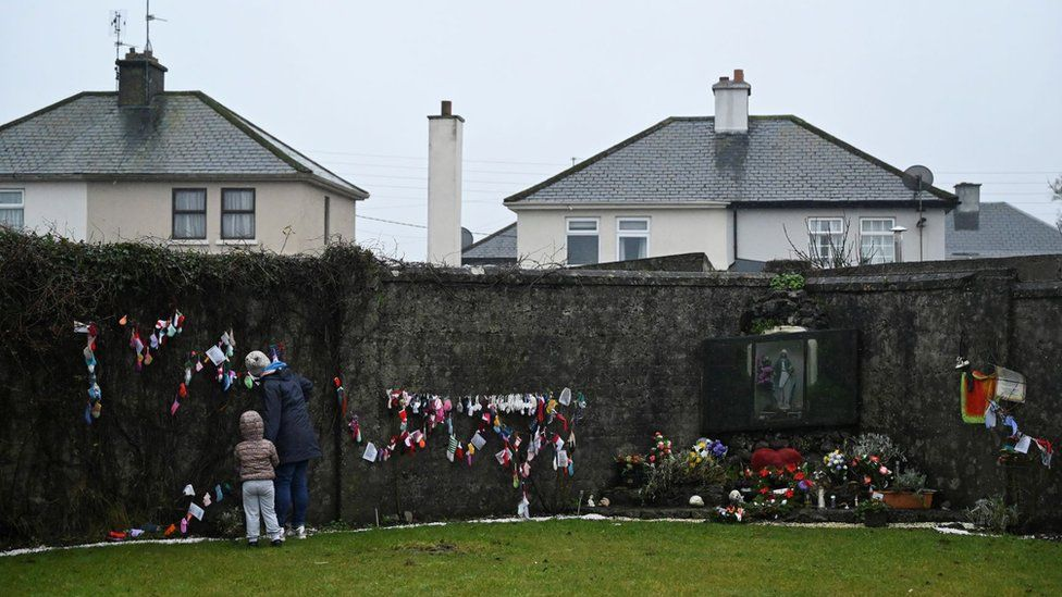 Mourners pay their respects to the Tuam babies in County Galway
