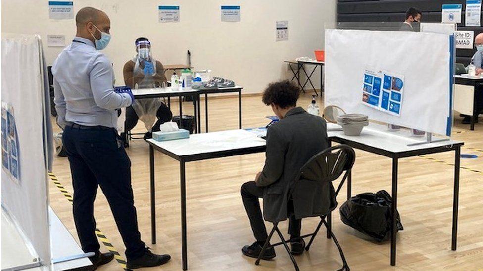 Covid testing in a school