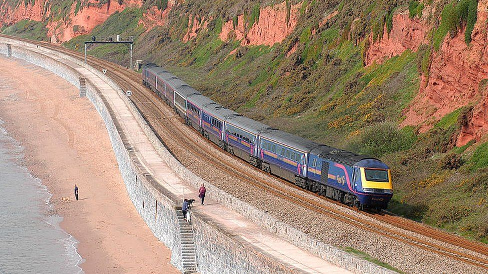 Great Western train on route between London and Cornwall