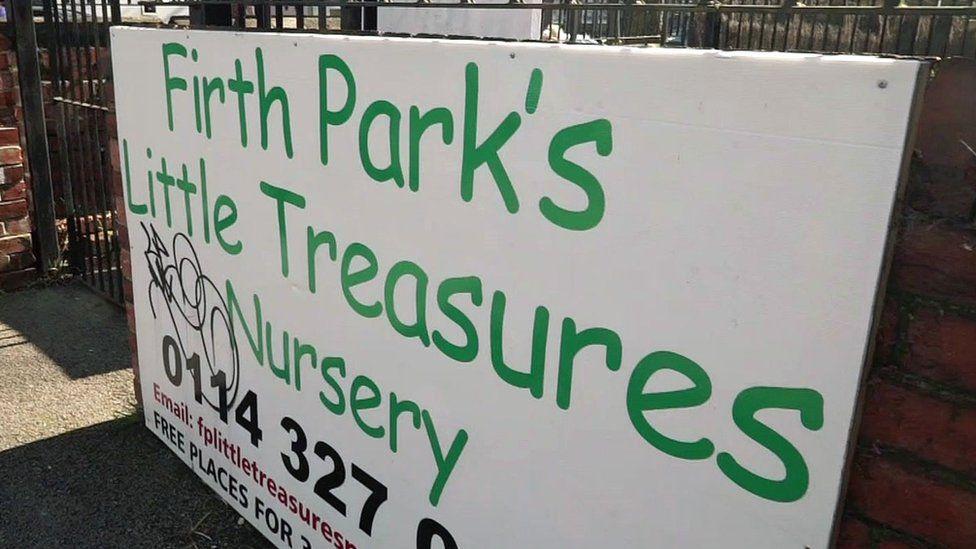 Firth Park nursery sign