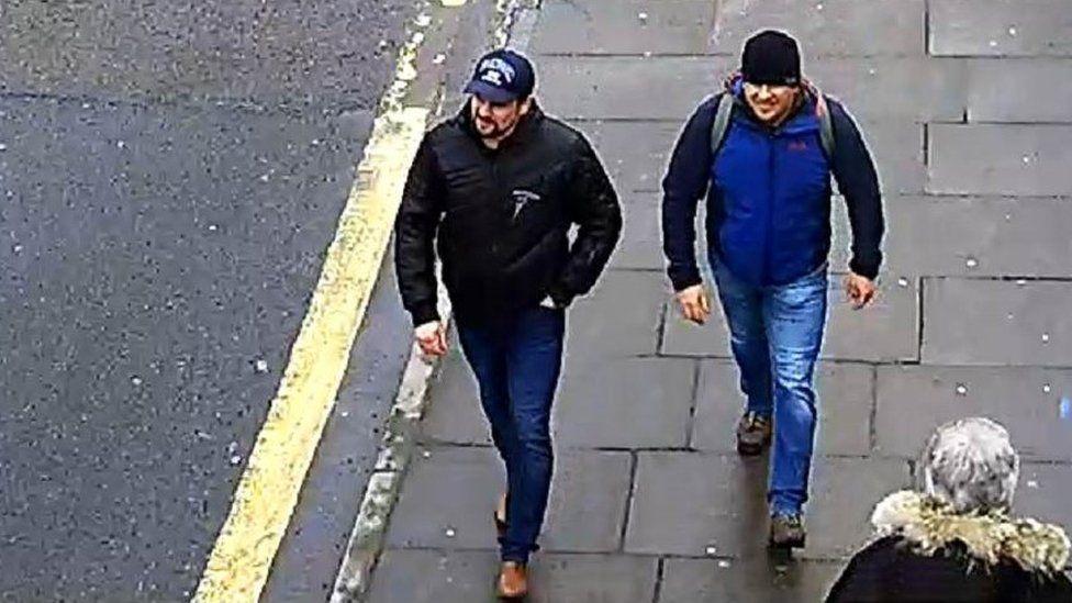 Alexander Petrov and Ruslan Boshirov CCTV images