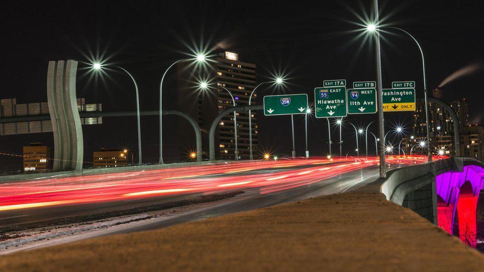 Night scene in city