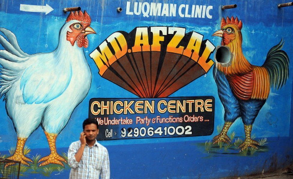 Chicken food shop in India