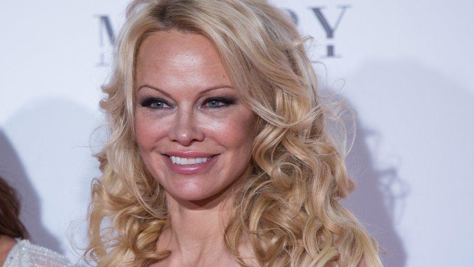 Pamela Anderson on a red carpet