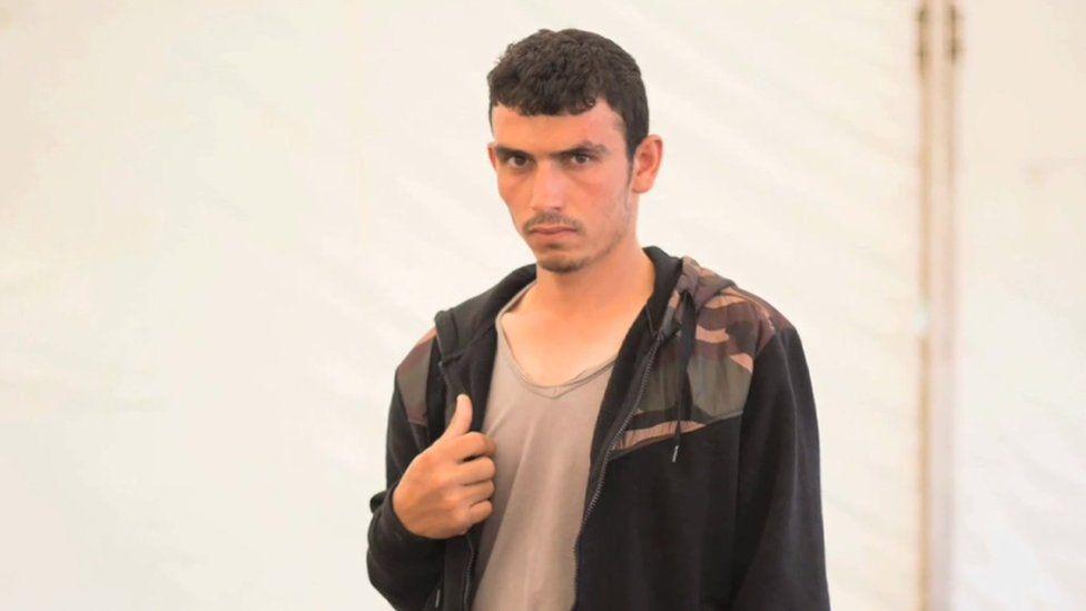 Ali in the migrant camp