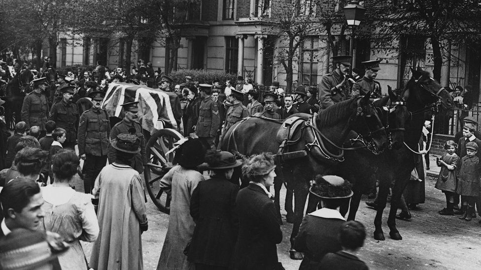 Funeral for WW1 soldier