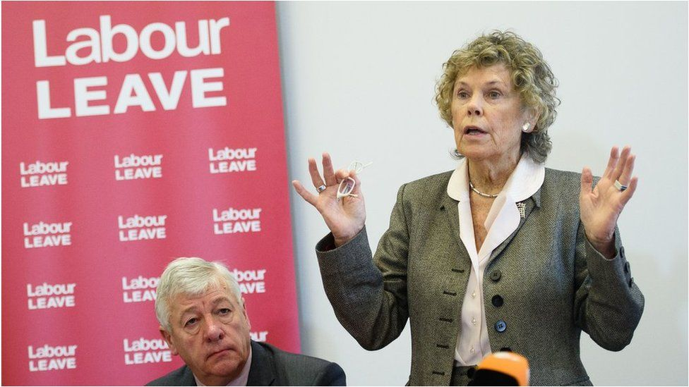Kate Hoey at the launch of Labour Leave