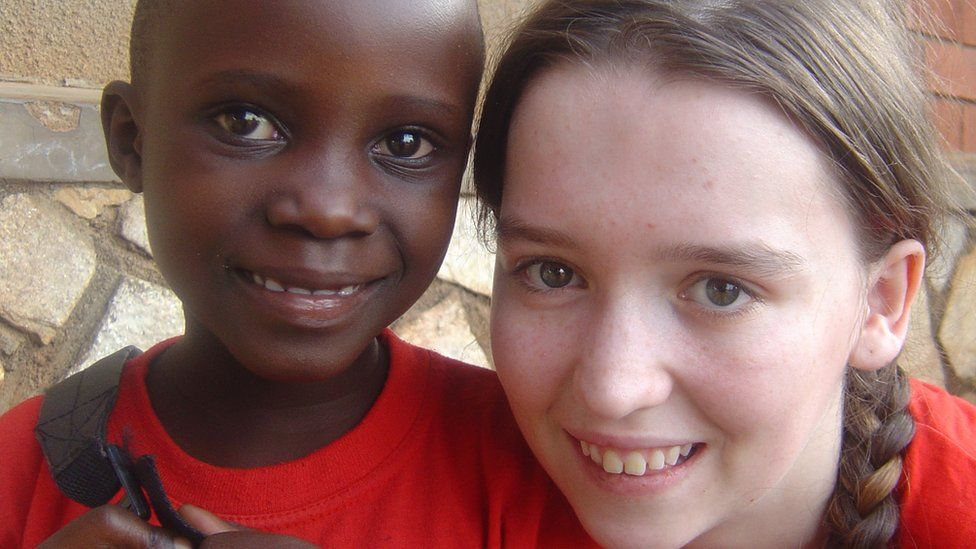 Charlene pictured during a family holiday to Uganda in 2008