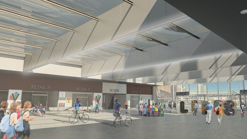 Artist impression of new roof