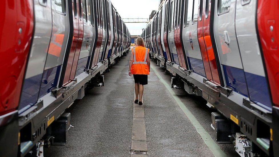 London Underground trains built by Bombardier