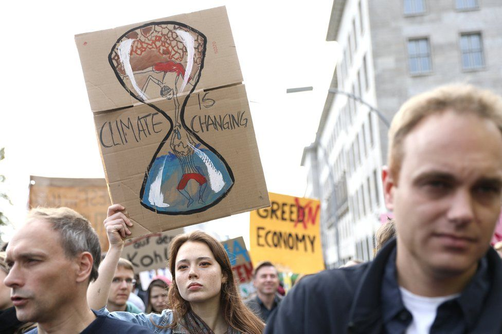Climate protesters in Berlin