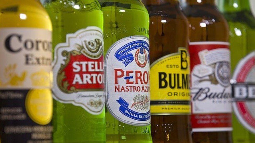 Ab Inbev beers lined up