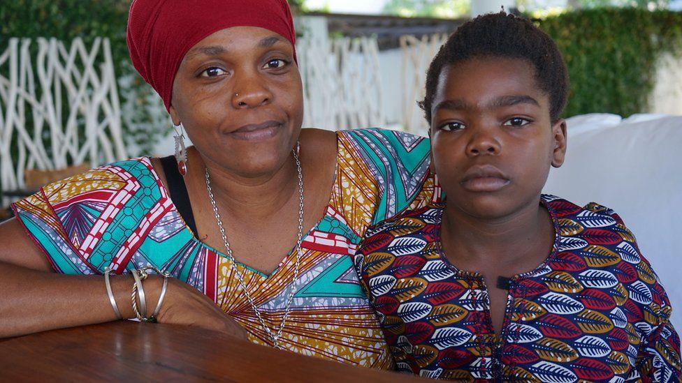 Yashua Mack with his mother Aziza Roberts
