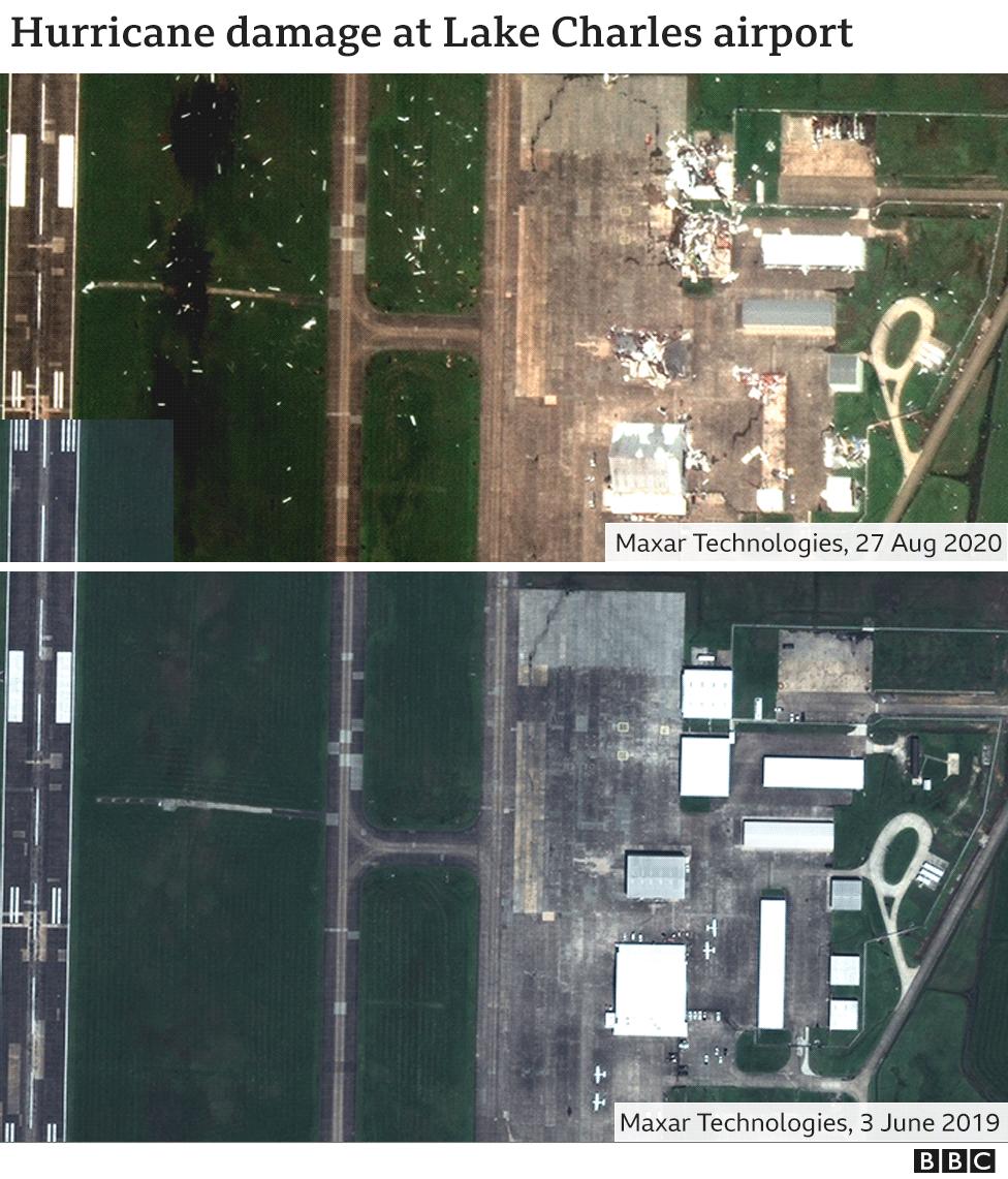 satellite images show damage