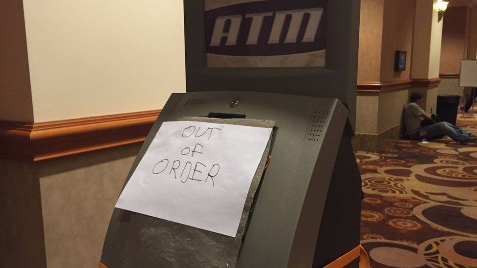 ATM 'out of order'