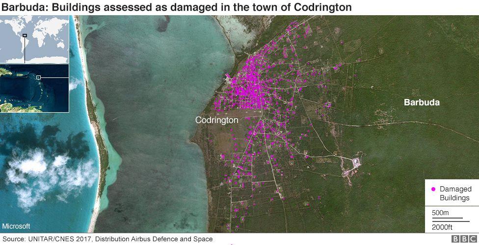 Barbuda damage assessment