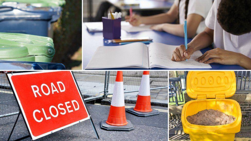 Council services collage