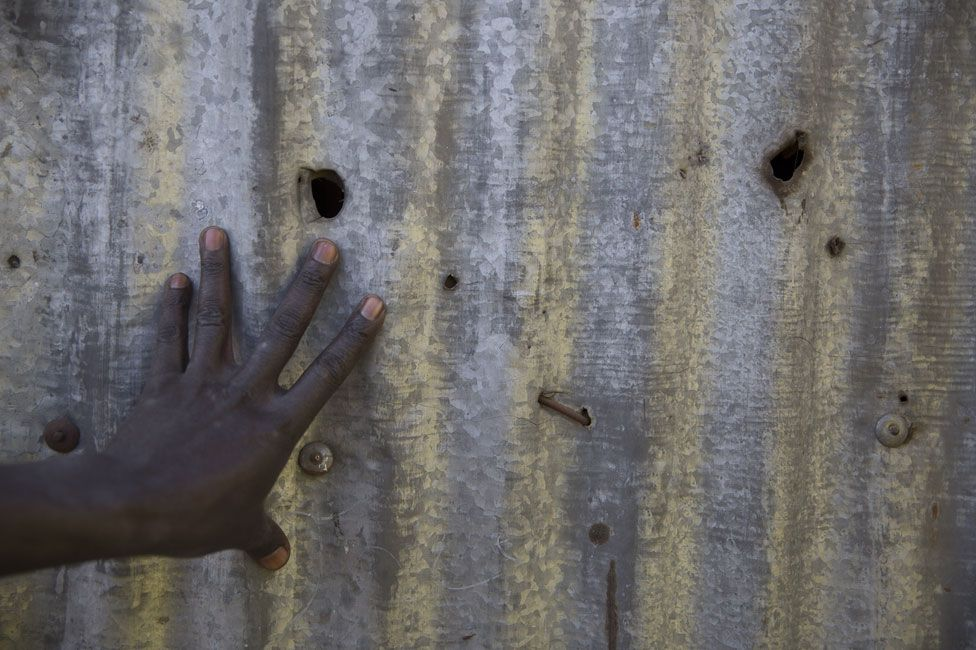 Bullet holes left when police opened fire in Dandora in 2007-8