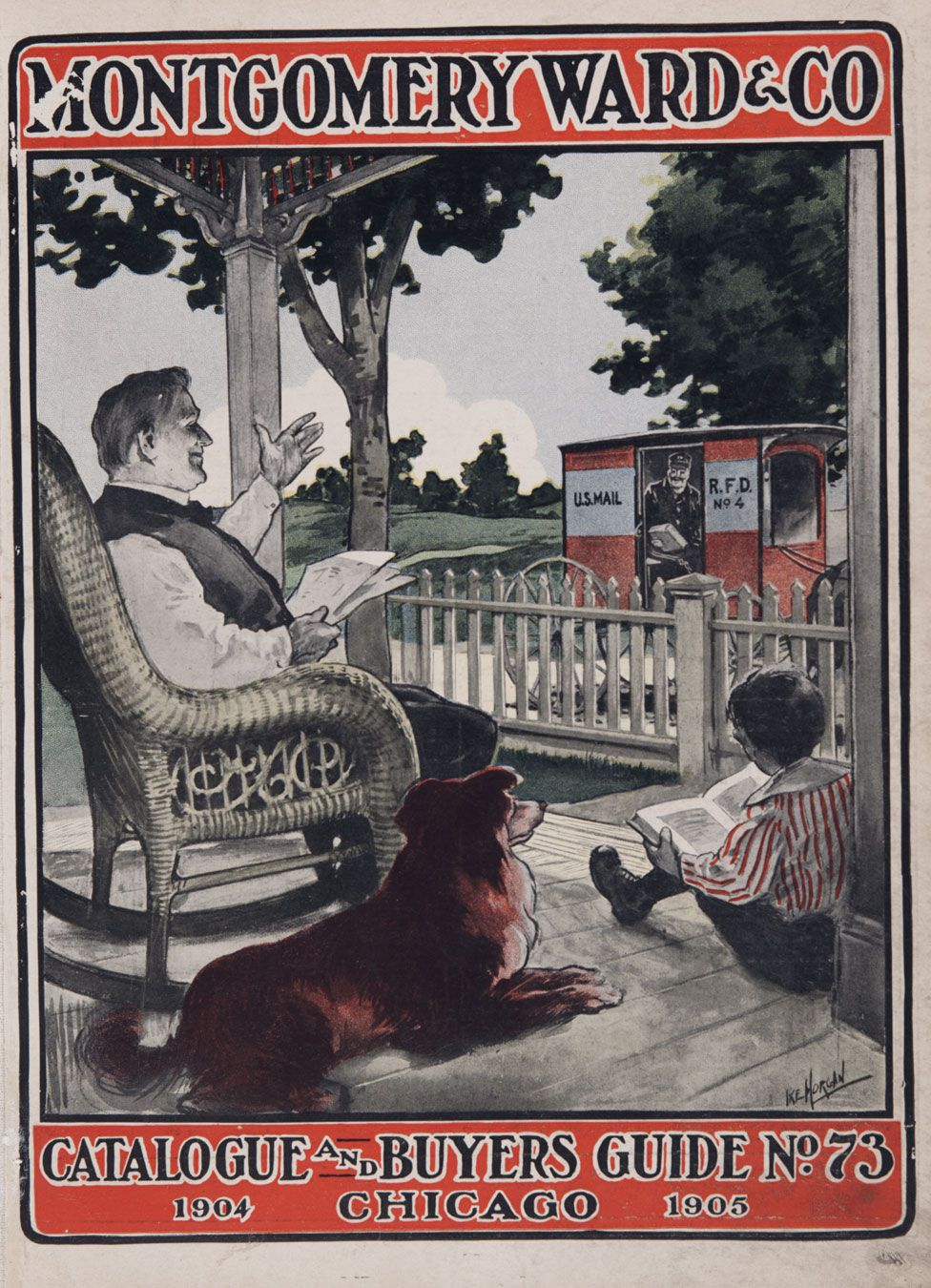 The cover of Montgomery Ward & Company's 1904 mail order catalogue, Chicago, 1904.