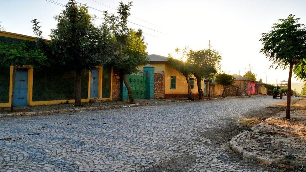 A residential streek in Aksum, Ethiopia