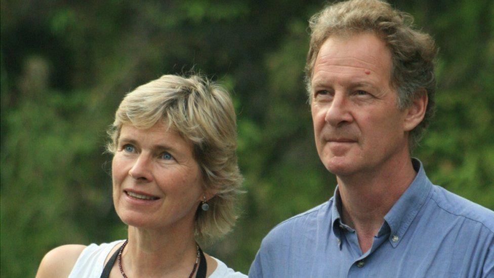 Miranda Harris and her husband Peter