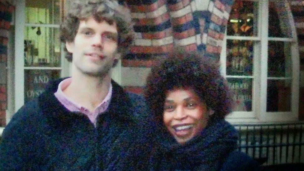 Mark van Dongen (left) with Berlinah Wallace