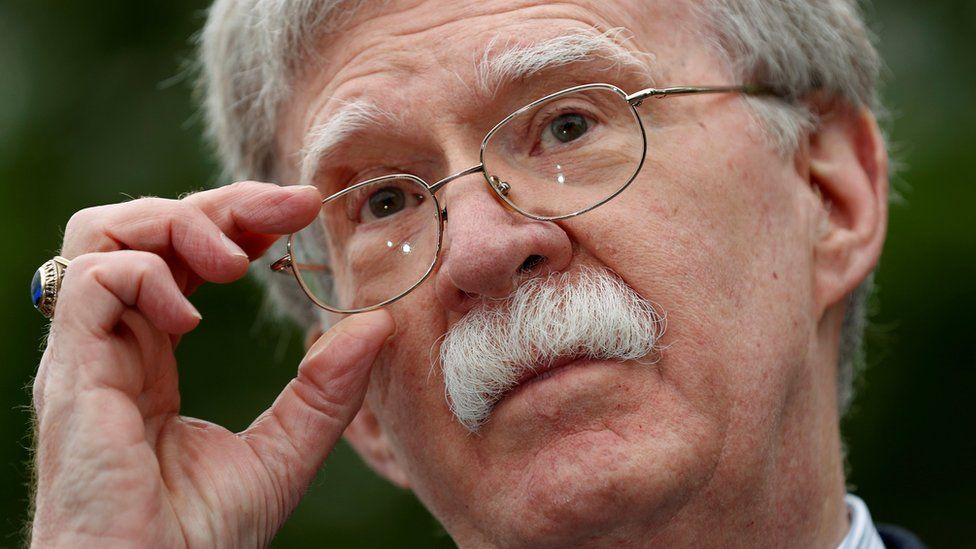 U.S. national security adviser John Bolton speaks to reporters at the White House in Washington, U.S., May 1, 2019