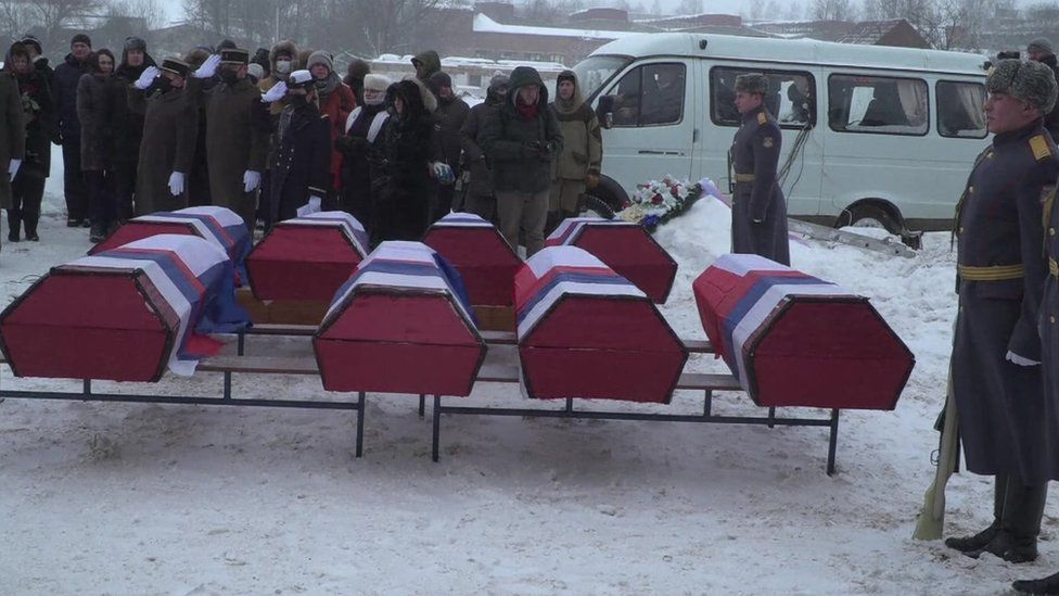 Reburial ceremony for military dead from Napoleon's 1812 retreat from Russia