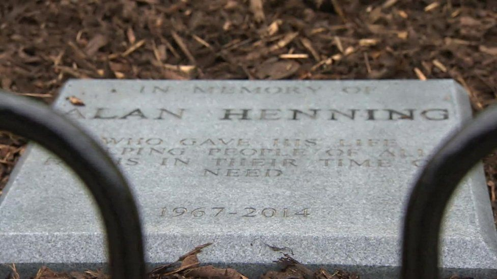 Alan Henning plaque