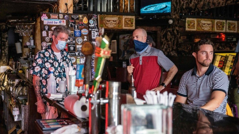 Texas Governor Greg Abbott ordered bars to be closed by noon on June 26 and for restaurants to be reduced to 50% occupancy