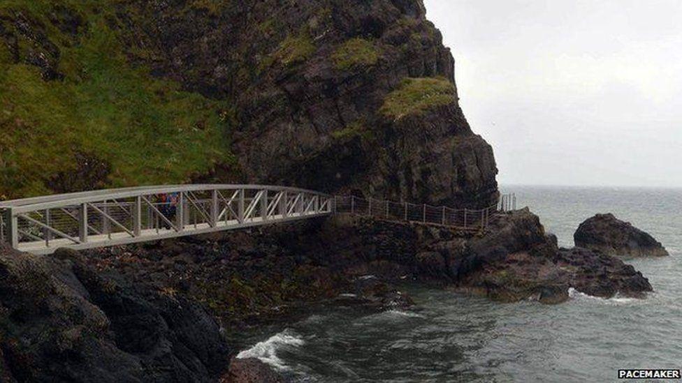 Gobbins coastal walk way