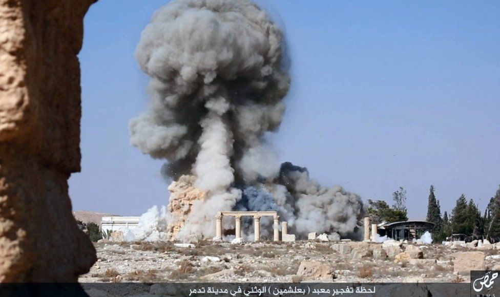 Baalshamin temple destroyed