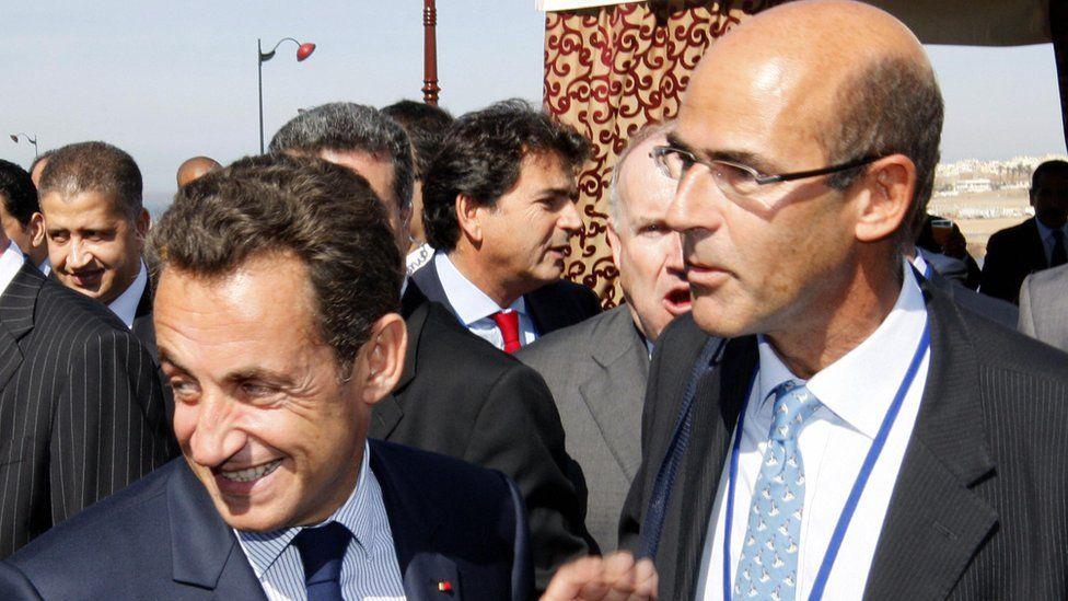 Then-French President Nicolas Sarkozy and Patrick Kron in October 2007